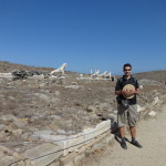Delos Island, The Lion terrace, 2014