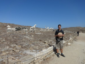 Delos Island, The Lion terrace, 2014