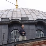 At the main dome of Hagia Sophia church in Istanbul, 2012